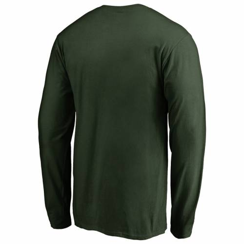 FANATICS BRANDED チーム ロゴ スリーブ Tシャツ 緑 グリーン メンズファッション トップス カットソー メンズ 【 Ndsu Bison Big And Tall Primary Team Logo Long Sleeve T-shirt - Green 】 Green