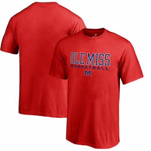 FANATICS BRANDED 子供用 バスケットボール Tシャツ 赤 レッド キッズ ベビー マタニティ トップス ジュニア 【 Ole Miss Rebels Youth True Sport Basketball T-shirt - Red 】 Red