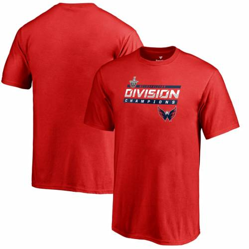 FANATICS BRANDED ワシントン 子供用 Tシャツ 赤 レッド キッズ ベビー マタニティ トップス ジュニア 【 Washington Capitals Youth 2019 Metropolitan Division Champions Clipping T-shirt - Red 】 Red