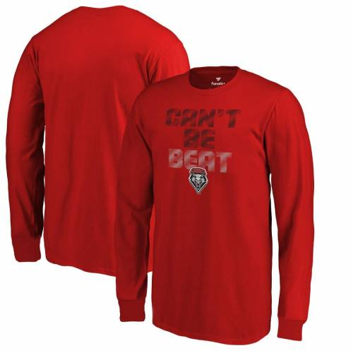 FANATICS BRANDED 子供用 スリーブ Tシャツ 赤 レッド キッズ ベビー マタニティ トップス ジュニア 【 New Mexico Lobos Youth Cant Be Beat Long Sleeve T-shirt - Red 】 Red