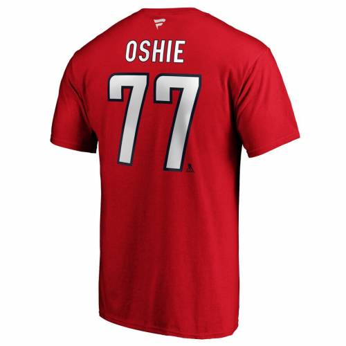 FANATICS BRANDED ワシントン チーム オーセンティック Tシャツ 赤 レッド メンズファッション トップス カットソー メンズ 【 Tj Oshie Washington Capitals Team Authentic Stack Name And Number T-shirt - Red 】