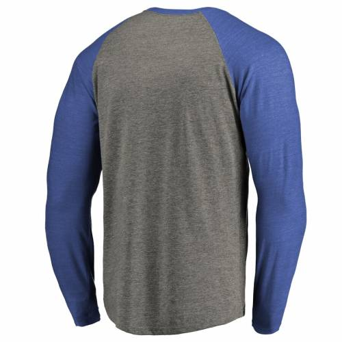 FANATICS BRANDED テック ロゴ スリーブ ラグラン Tシャツ 灰色 グレー グレイ メンズファッション トップス カットソー メンズ 【 Louisiana Tech Bulldogs Primary Logo Long Sleeve Tri-blend Big And Tall Raglan