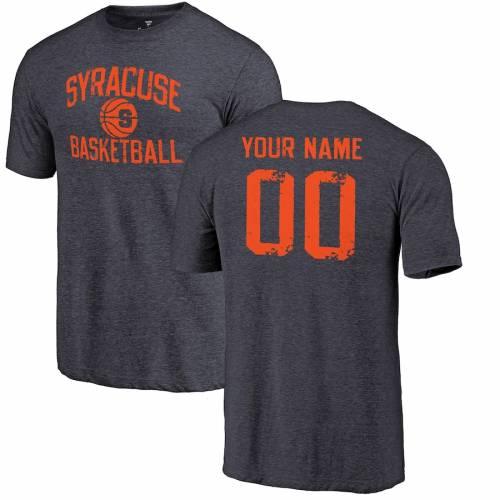 FANATICS BRANDED シラキュース 橙 オレンジ バスケットボール Tシャツ 紺 ネイビー メンズファッション トップス カットソー メンズ 【 [customized Item] Syracuse Orange Personalized Distressed Basketball Tri