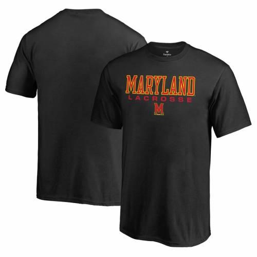 FANATICS BRANDED メリーランド 子供用 ラクロス Tシャツ 黒 ブラック キッズ ベビー マタニティ トップス ジュニア 【 Maryland Terrapins Youth True Sport Lacrosse T-shirt - Black 】 Black