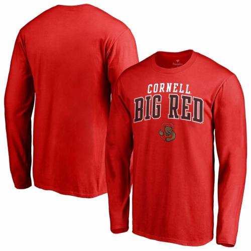 FANATICS BRANDED 赤 レッド チーム ロゴ スリーブ Tシャツ メンズファッション トップス カットソー メンズ 【 Cornell Big Red Team Logo Square Up Long Sleeve T-shirt - Red 】 Red