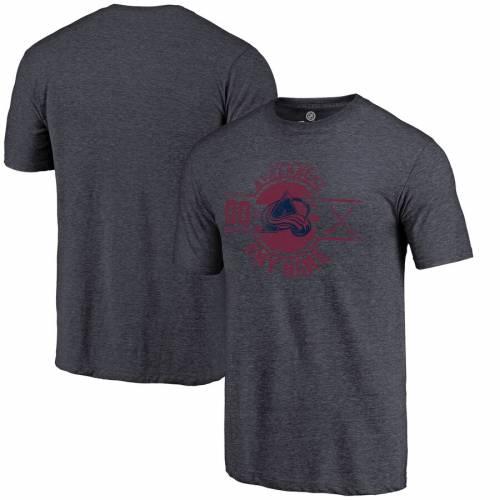 FANATICS BRANDED コロラド Tシャツ 紺 ネイビー メンズファッション トップス カットソー メンズ 【 [customized Item] Colorado Avalanche Personalized Insignia Tri-blend T-shirt - Navy 】 Navy