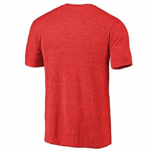 スポーツブランド カジュアル ファッション トップス マーケット 半袖 ファナティクス FANATICS BRANDED レベルス Tシャツ 定価 赤 TSHIRT ARCHED レッド メンズファッション HEATHERED カットソー ミシシッピ TRIBLEND CRY RED BATTLE