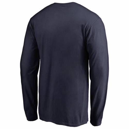FANATICS BRANDED コネチカット チーム ロゴ スリーブ Tシャツ 紺 ネイビー メンズファッション トップス カットソー メンズ 【 Uconn Huskies Big And Tall Primary Team Logo Long Sleeve T-shirt - Navy 】 Navy