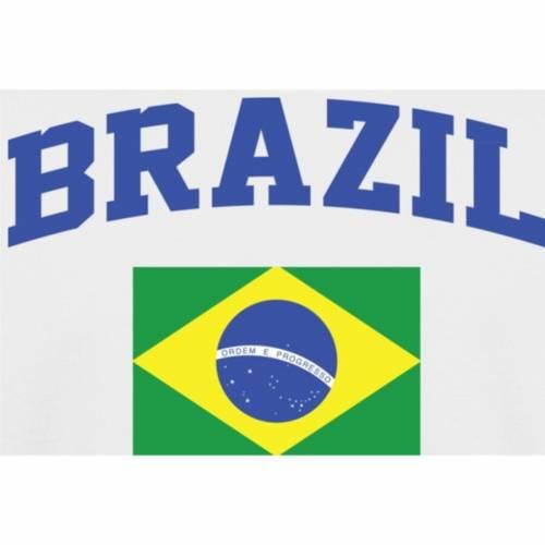 FANATICS BRANDED 子供用 Tシャツ 白 ホワイト キッズ ベビー マタニティ トップス ジュニア 【 Brazil Youth Flag T-shirt - White 】 White
