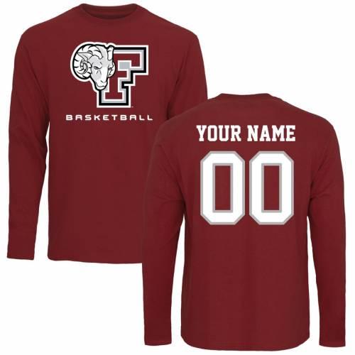 FANATICS BRANDED ラムズ バスケットボール スリーブ Tシャツ メンズファッション トップス カットソー メンズ 【 [customized Item] Fordham Rams Personalized Basketball Long Sleeve T-shirt - Maroon 】 Maroon