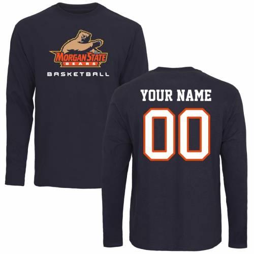 FANATICS BRANDED スケートボード ベアーズ バスケットボール スリーブ Tシャツ 紺 ネイビー メンズファッション トップス カットソー メンズ 【 [customized Item] Morgan State Bears Personalized Basketball