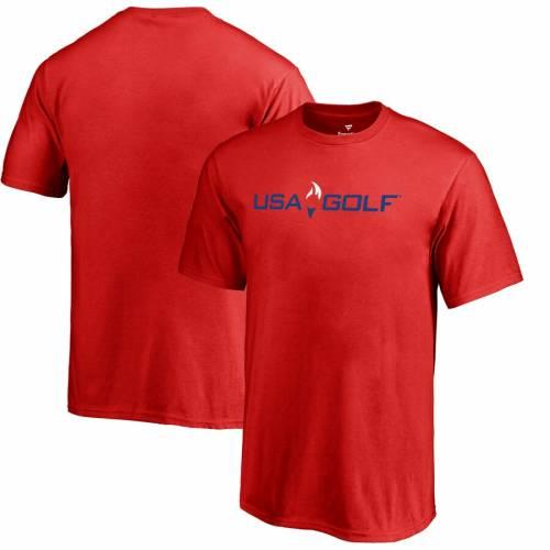 FANATICS BRANDED ゴルフ 子供用 ロゴ Tシャツ 赤 レッド キッズ ベビー マタニティ トップス ジュニア 【 Usa Golf Youth Primary Logo T-shirt - Red 】 Red