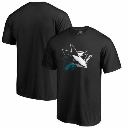 FANATICS BRANDED ロゴ Tシャツ 黒 ブラック メンズファッション トップス カットソー メンズ 【 San Jose Sharks Gradient Logo T-shirt - Black 】 Black