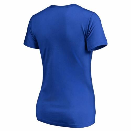 FANATICS BRANDED レディース ブイネック Tシャツ WOMEN'SFANATICS BRANDED NEW YORK ISLANDERS FREELINE PLUS SIZE VNECK TSHIRT ROYALレディースファッション トップス Tシャツ カットソーjL3c5AR4q