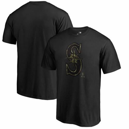 FANATICS BRANDED シアトル マリナーズ プレスティージ Tシャツ 黒 ブラック メンズファッション トップス カットソー メンズ 【 Seattle Mariners Big And Tall Armed Forces Prestige Tri-blend T-shirt - Black 】