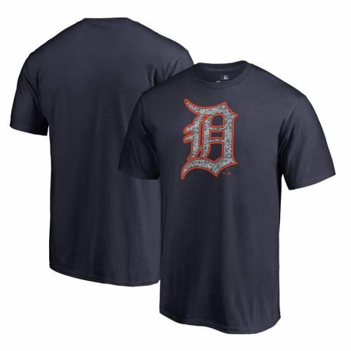 FANATICS BRANDED デトロイト タイガース ロゴ Tシャツ 紺 ネイビー メンズファッション トップス カットソー メンズ 【 Detroit Tigers Static Logo Big And Tall T-shirt - Navy 】 Navy