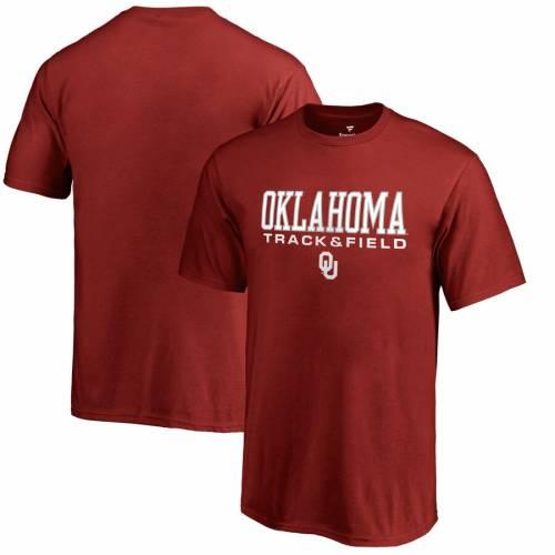 FANATICS BRANDED 子供用 トラック フィールド Tシャツ キッズ ベビー マタニティ トップス ジュニア 【 Oklahoma Sooners Youth True Sport Track And Field T-shirt - Crimson 】 Crimson