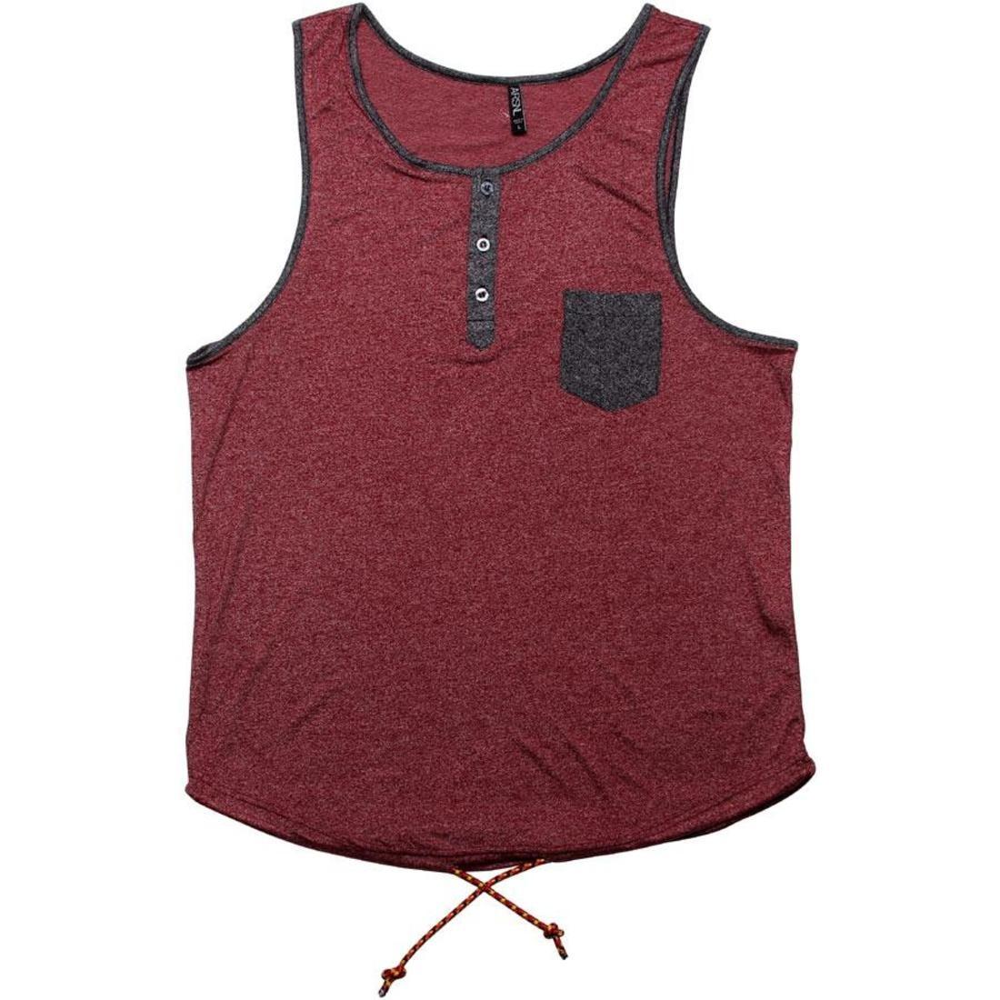 タンクトップ 【 ARSNL ORACLE TANK TOP MAROON SPECKLE 】 メンズファッション トップス 送料無料