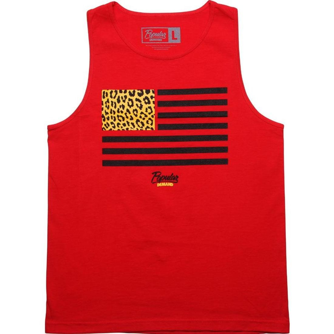 タンクトップ 【 POPULAR DEMAND CHEETAH FLAG TANK TOP RED 】 メンズファッション トップス 送料無料