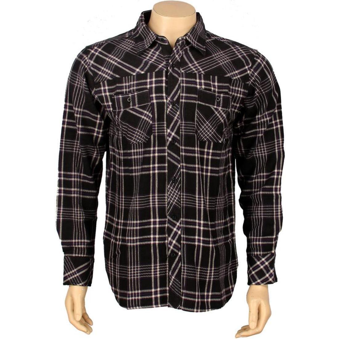 【海外限定】スリーブ カジュアルシャツ メンズファッション 【 SLEEVE JSLV GOODTIMES FLANNEL LONG SHIRT BLACK 】