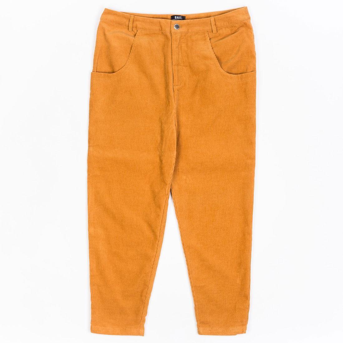 ベイト BAIT コーデュロイ 茶 ブラウン キャメル 【 BROWN CAMEL BAIT UNISEX CORDUROY TAILORED PANTS 】 メンズファッション ズボン パンツ