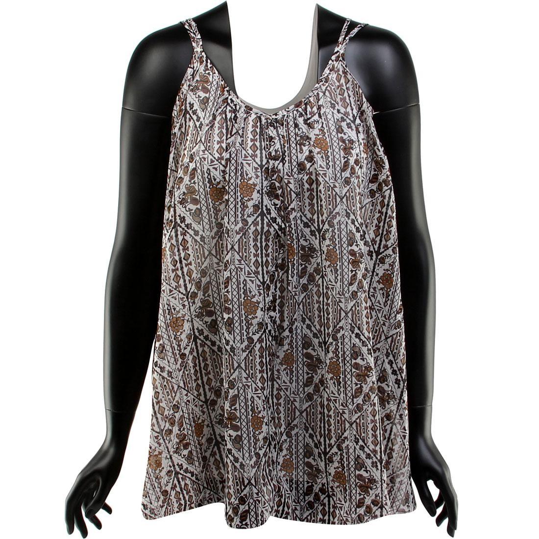 ルーカ タンクトップ ドレス 【 RVCA WOMEN GARDEN CHIFFON TANK DRESS BROWN 】 レディースファッション ワンピース 送料無料