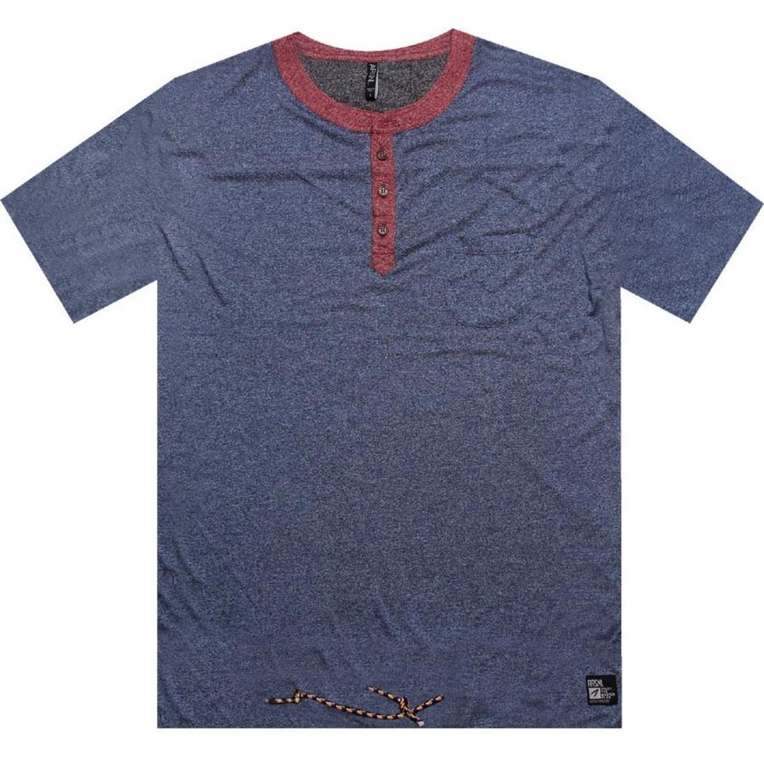 【海外限定】ヘンリー Tシャツ トップス メンズファッション 【 ARSNL KEOWN HENLEY TEE NAVY SPECKLE 】
