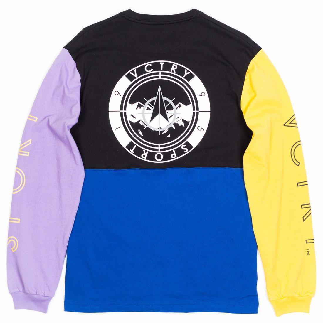 テンディープ 10 DEEP ミッド スリーブ Tシャツ メンズファッション トップス カットソー メンズ 【 Men Mid Mountain Long Sleeve Tee (purple / Black) 】 Purple / Black