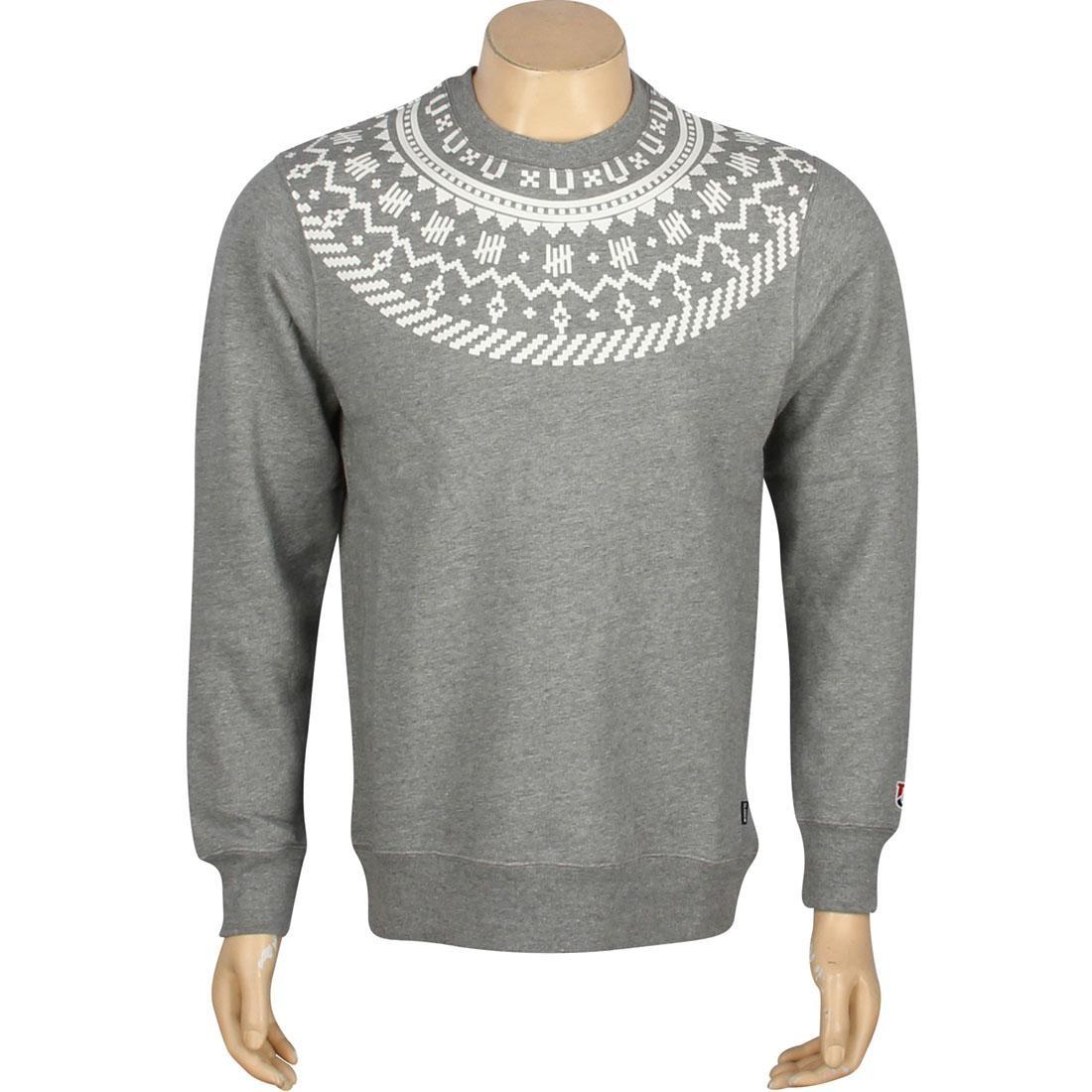 【スーパーセール中! 6/11深夜2時迄】UNDEFEATED Gray灰色 グレイ メンズファッション トップス Tシャツ カットソー メンズ 【 Traverse Crewneck (gray / Grey Heather) 】 Gray / Grey Heather