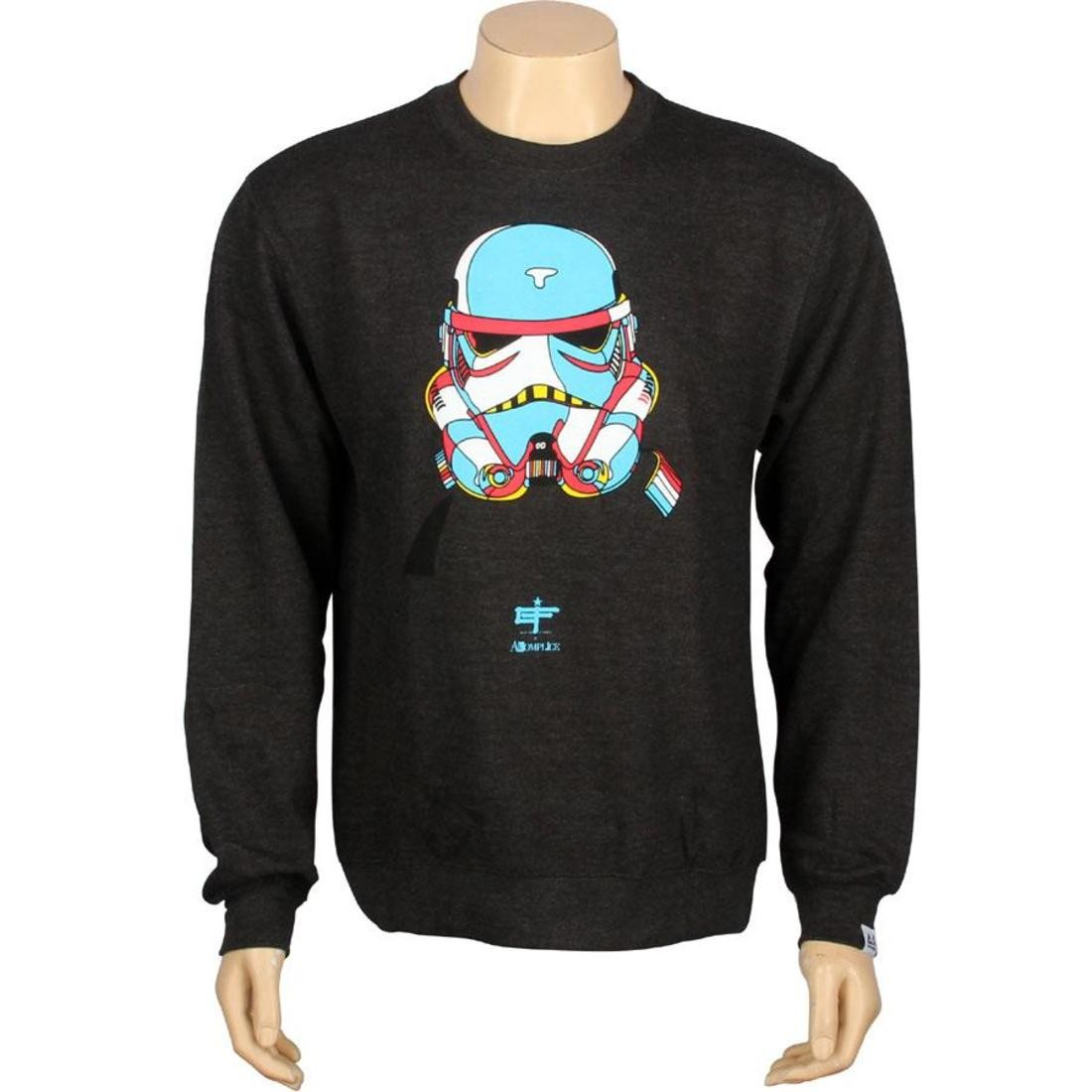 【海外限定】フリース トップス カットソー 【 AKOMPLICE X DAVID FLORES STORM TROOPER 2 FLEECE CREWNECK CHARCOAL BLUE 】