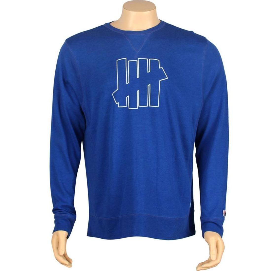 【スーパーセール中! 6/11深夜2時迄】UNDEFEATED ストライク メンズファッション トップス Tシャツ カットソー メンズ 【 U And D 5 Strike Crewneck (blue) 】 Blue