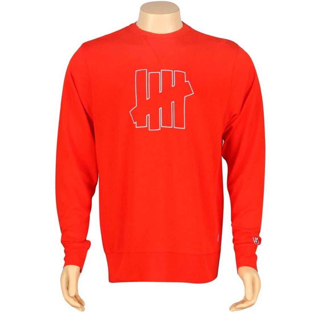 【スーパーセール中! 6/11深夜2時迄】UNDEFEATED ストライク メンズファッション トップス Tシャツ カットソー メンズ 【 U And D 5 Strike Crewneck (red) 】 Red