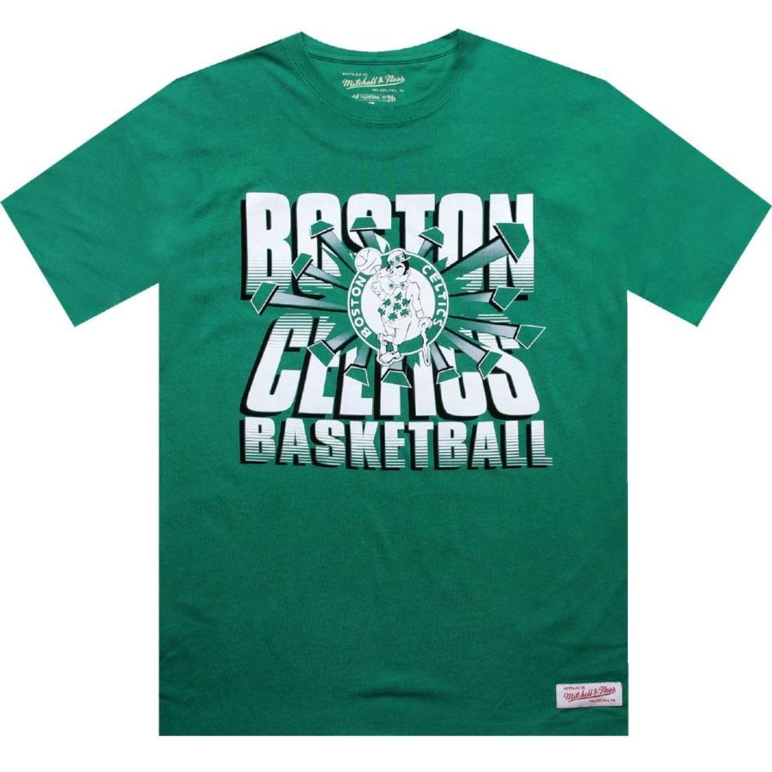 【海外限定】ボストン セルティックス Tシャツ カットソー 【 MITCHELL AND NESS BOSTON CELTICS BLANK TEE KELLY 】