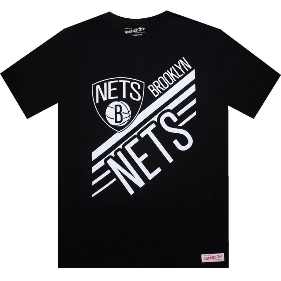 【海外限定】ブルックリン ネッツ Tシャツ トップス メンズファッション 【 MITCHELL AND NESS BROOKLYN NETS BLANK TEE BLACK 】