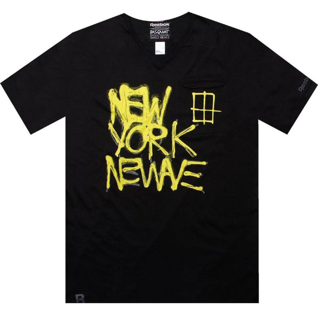 【海外限定】リーボック ウェーブ ウェイブ Tシャツ カットソー メンズファッション 【 REEBOK WAVE AFFILIART NEW TEE BASQUIAT BLACK 】