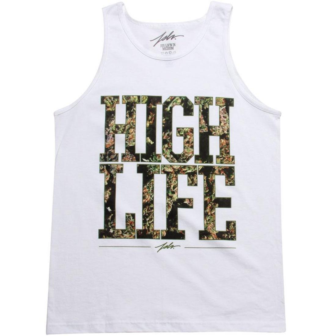 ハイ タンクトップ 白 ホワイト 緑 グリーン 【 WHITE GREEN JSLV HIGH LIFE TANK TOP 】 メンズファッション トップス タンクトップ