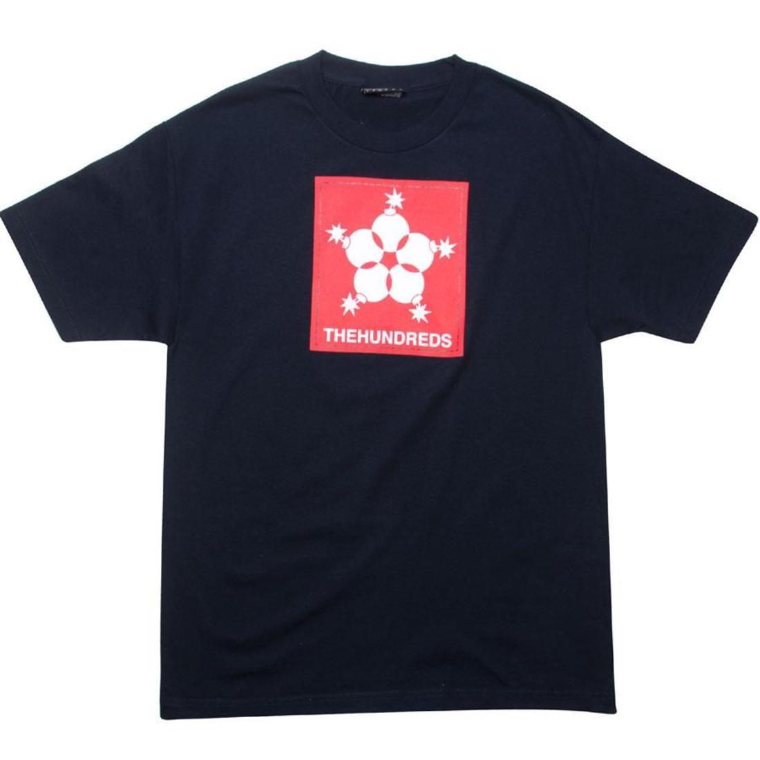 Tシャツ 紺 ネイビー 【 NAVY THE HUNDREDS LINER TEE 】 メンズファッション トップス Tシャツ カットソー