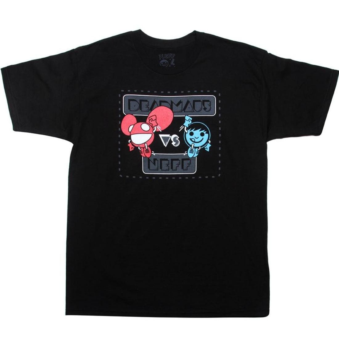Tシャツ 黒 ブラック 【 BLACK NEFF X DEADMAU5 VERSUS TEE 】 メンズファッション トップス Tシャツ カットソー