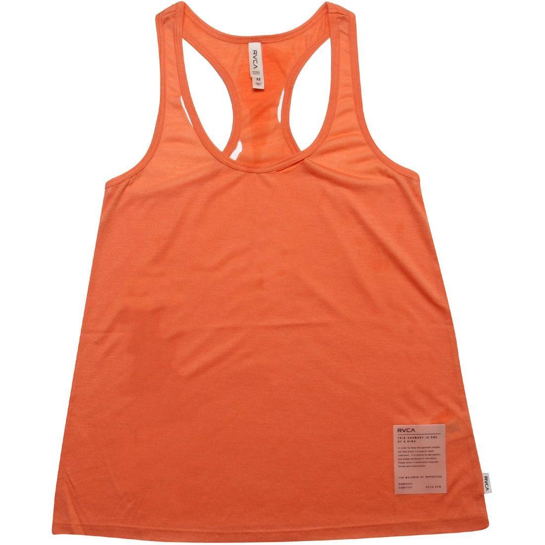 RVCA ルーカ タンクトップ 橙 オレンジ 【 RVCA ORANGE MOVE OVER TANK TOP MELON 】 メンズファッション トップス タンクトップ