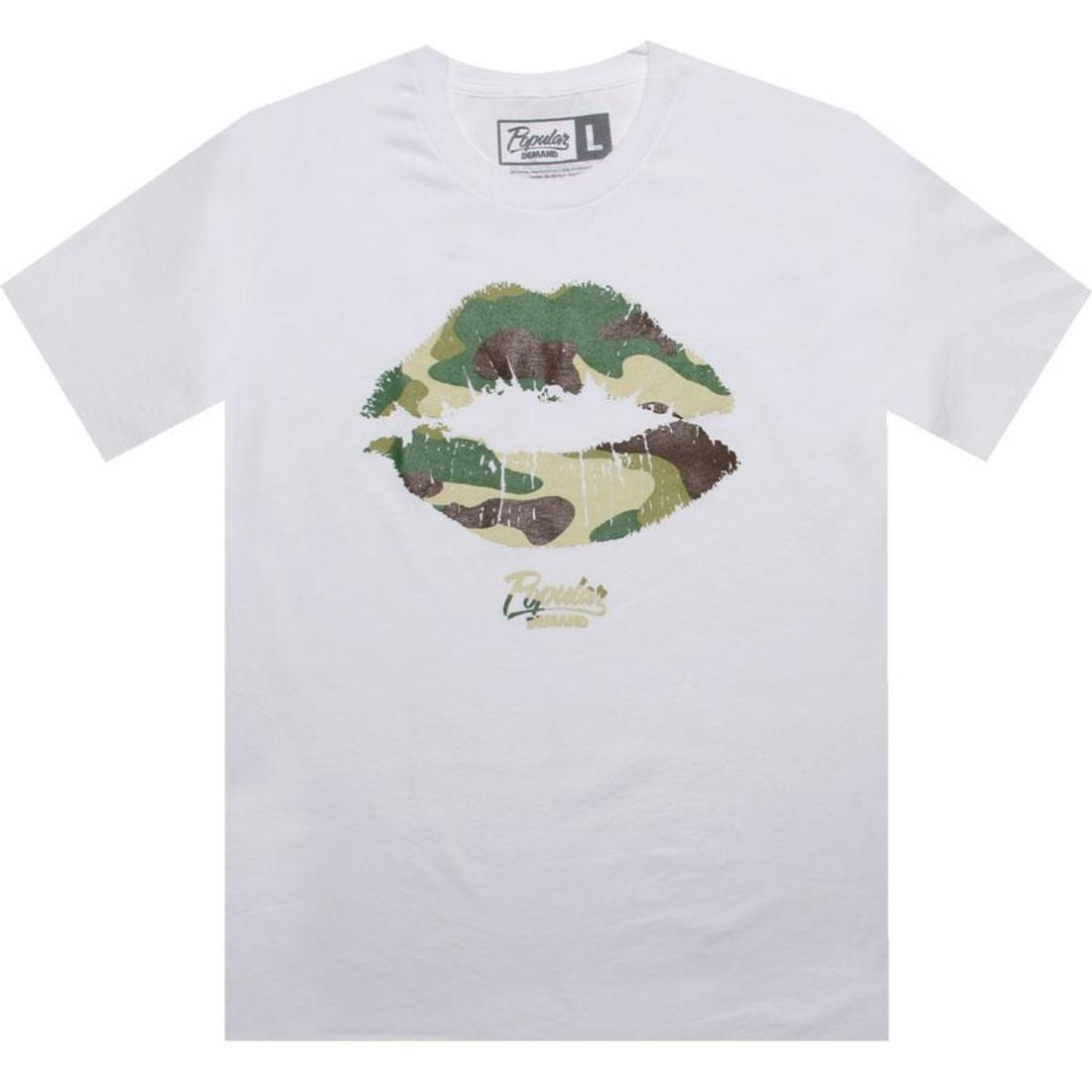 Tシャツ 白 ホワイト 【 WHITE POPULAR DEMAND CAMO KISS TEE EARLY RELEASE 】 メンズファッション トップス Tシャツ カットソー