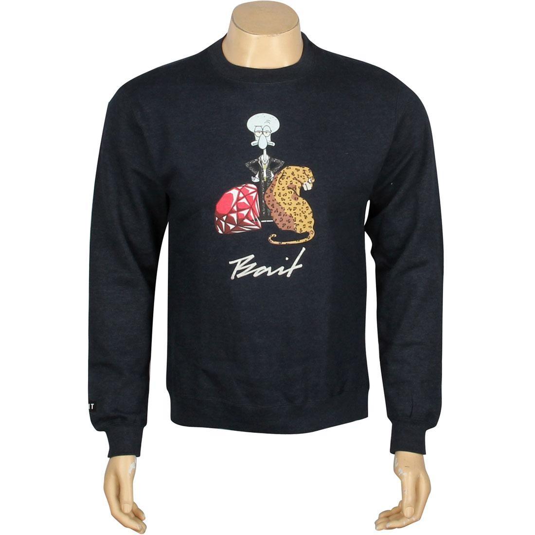【NeaYearSALE1/1-1/5】【 BAIT X SPONGEBOB SQUIDWARD CREWNECK NAVY HEATHER 】 メンズファッション トップス Tシャツ カットソー 送料無料