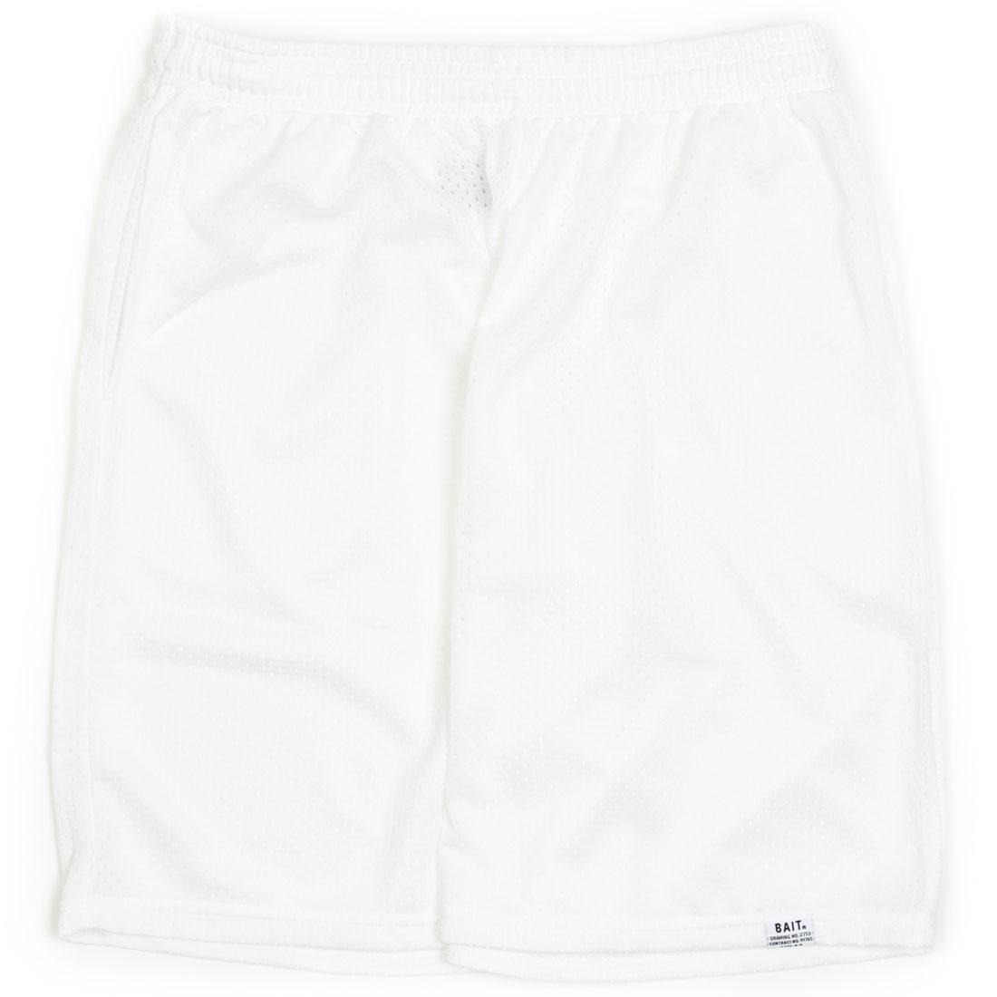 ベイト BAIT ナイロン バスケットボール ショーツ ハーフパンツ 白 ホワイト 【 WHITE BAIT MEN NYLON BASKETBALL SHORTS 】 メンズファッション ズボン パンツ