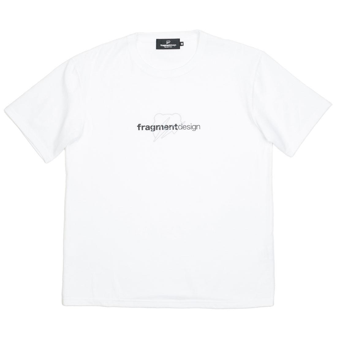 【スーパーセール中! 6/11深夜2時迄】ロゴ Tシャツ Be@rtee メンズファッション トップス カットソー メンズ 【 Medicom X Fragment Design Men Be@rtee W Logo Tee (white) 】 White