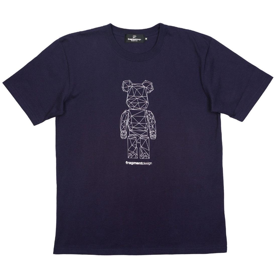 【スーパーセール中! 6/11深夜2時迄】Tシャツ Be@rtee メンズファッション トップス カットソー メンズ 【 Medicom X Fragment Design Men Be@rtee Polygon Tee (navy) 】 Navy