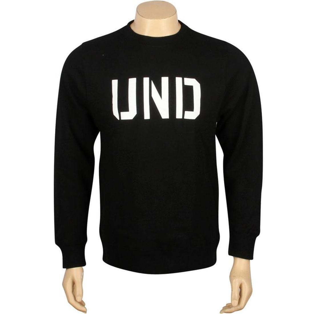 UNDEFEATED 黒 ブラック 【 BLACK UNDEFEATED UND BASIC PULLOVER CREWNECK 】 メンズファッション トップス Tシャツ カットソー