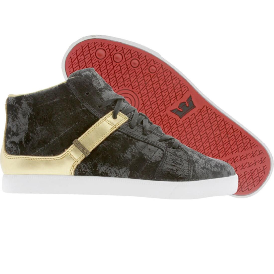 【海外限定】スープラ 黒 ブラック スニーカー 靴 【 SUPRA BLACK INDY NS DISTRESSED GOLD 】