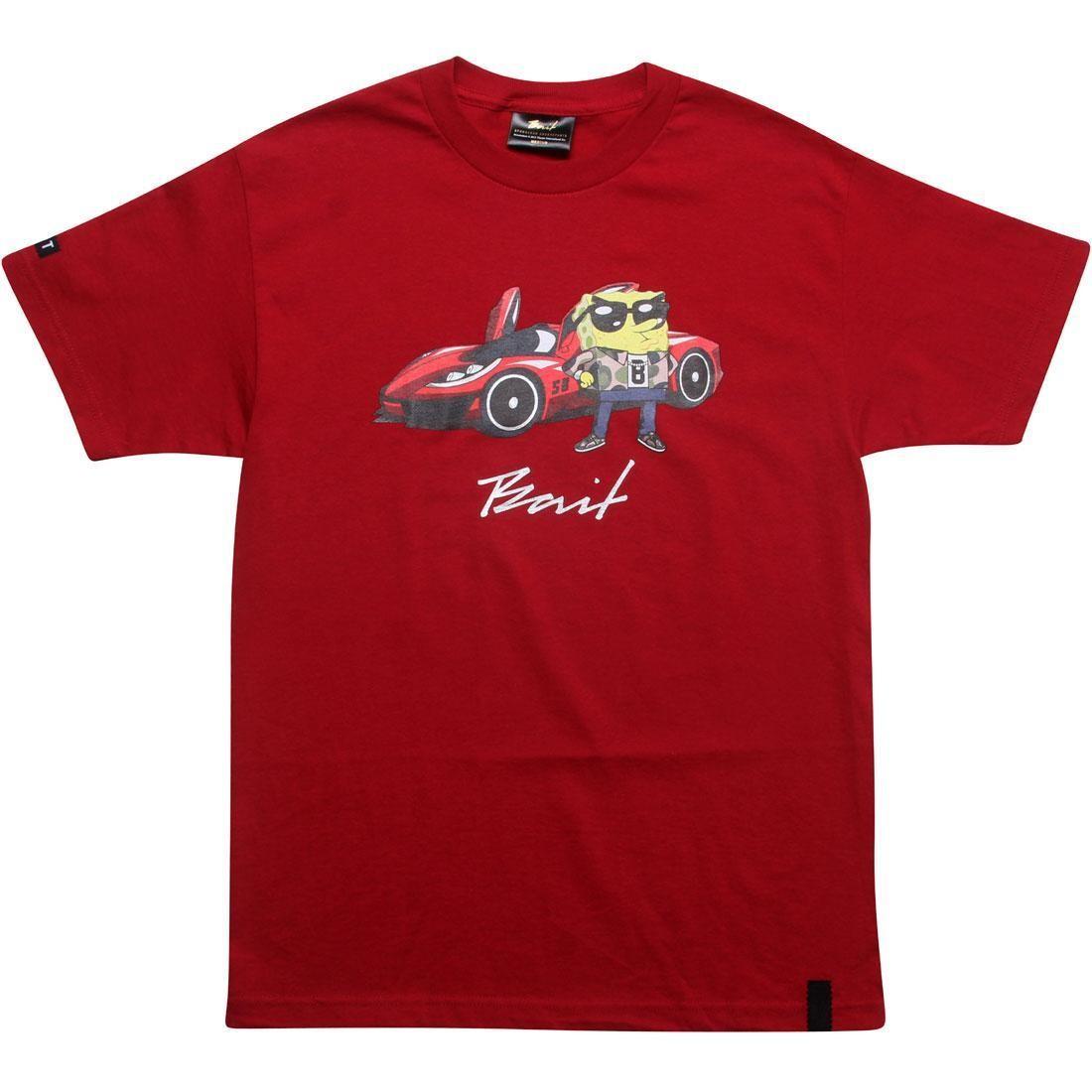 【海外限定】Tシャツ メンズファッション トップス 【 BAIT X SPONGEBOB SQUAREPANTS TEE CARDINAL RED 】
