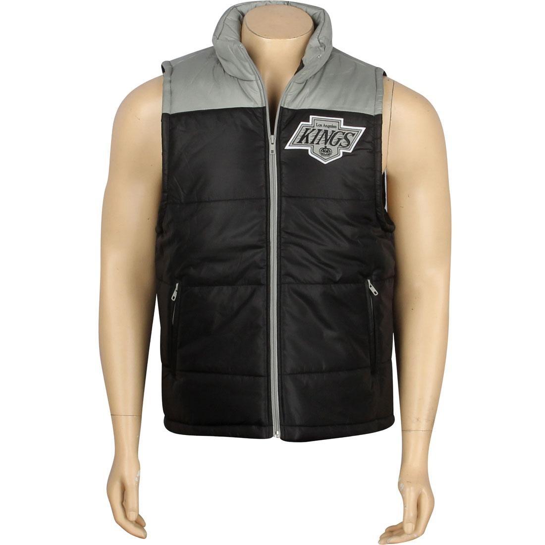 MITCHELL AND NESS キングス ベスト メンズファッション オーダーメイド ジレ メンズ 【 Los Angeles Kings Nhl Winning Vest (black) 】 Black