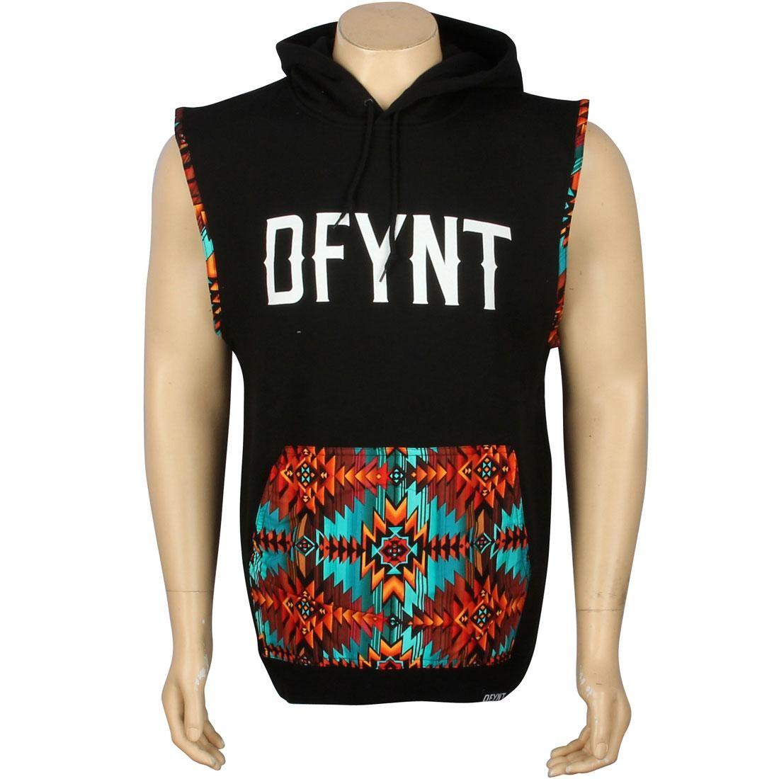 ベスト メンズファッション オーダーメイド ジレ メンズ 【 Defyant Aztec Hood Vest (black) 】 Black