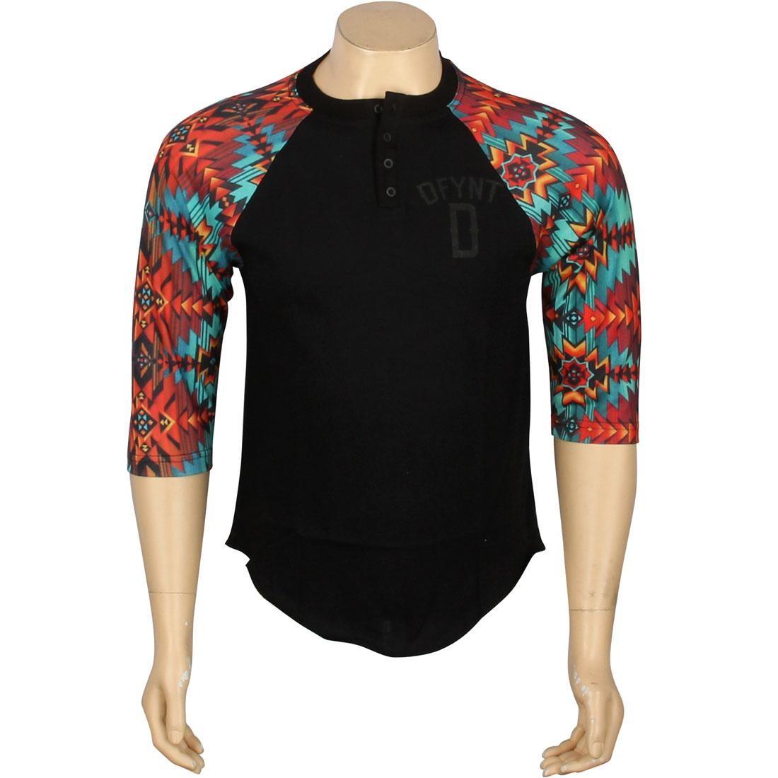 【海外限定】ラグラン Tシャツ メンズファッション カットソー 【 RAGLAN DEFYANT AZTEC TEE BLACK 】